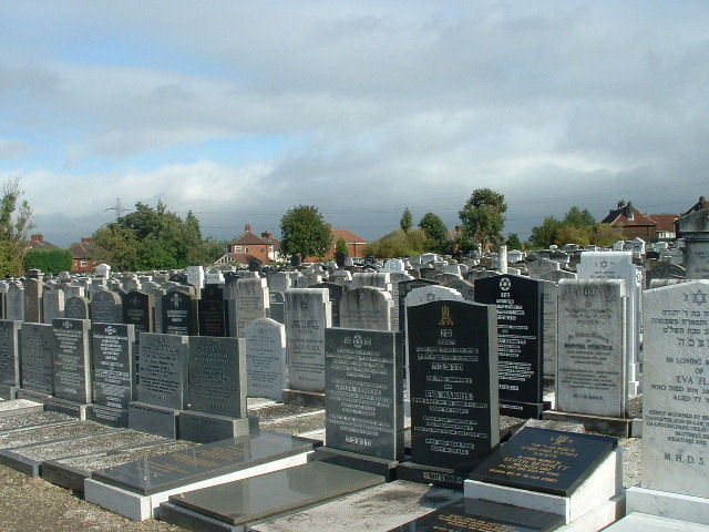 Blackley Jewish Cemetery - general view