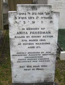 Freedman A WW2 Civilian Casualty 27-03-1945